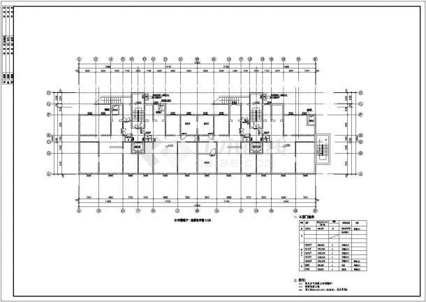 高层住宅地下室建筑设计施工图-图一