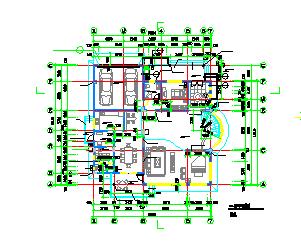 某经典别墅样板建筑cad设计施工图-图二