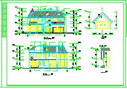 某别墅建筑结构cad设计施工图纸带效果图-图一