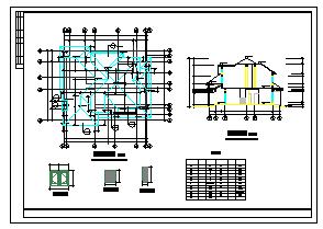临城高云别墅建筑cad设计施工图-图二