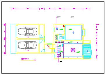某别墅装饰施工cad设计图纸-图一