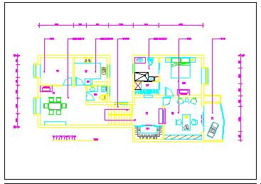 某别墅装饰施工cad设计图纸-图二
