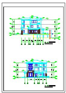 某处别墅建筑cad设计施工图-图二