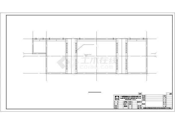 许昌某实验小学190平米单层公共厕所全套CAD建筑设计图纸-图二