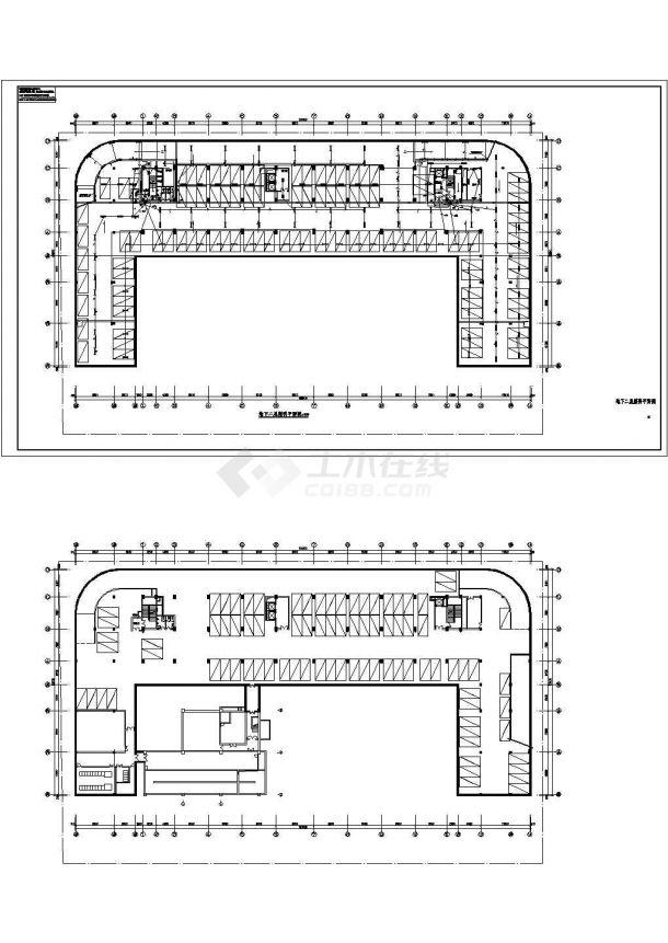 【上海】某高层研发大楼期全套电气cad建筑设计图纸-图二