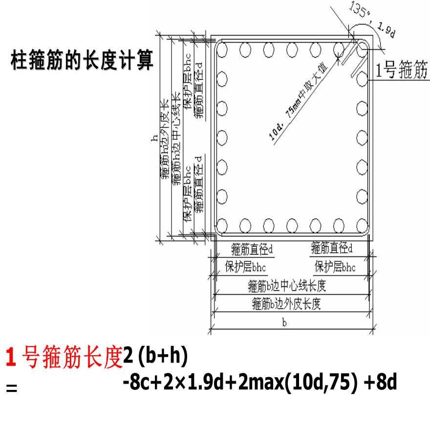 柱箍筋长度以及根数计算公式方法-图一