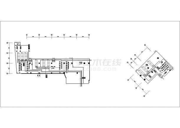 某多层商业裙楼暖通空调系统设计cad全套施工图(含设计说明 )-图一