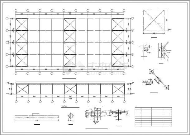 某产业园生产厂房门式钢架钢结构建筑设计施工CAD图纸-图一