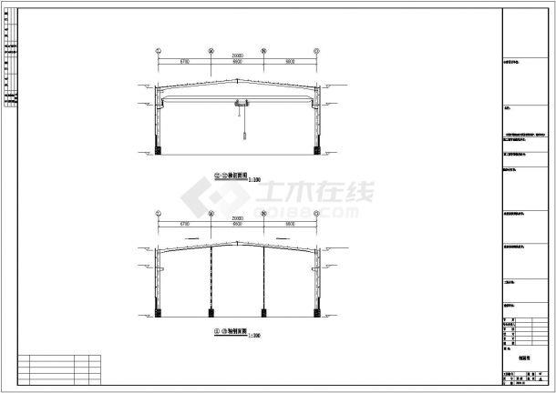 某产业园盛达大理石工程设计施工CAD图纸-图一