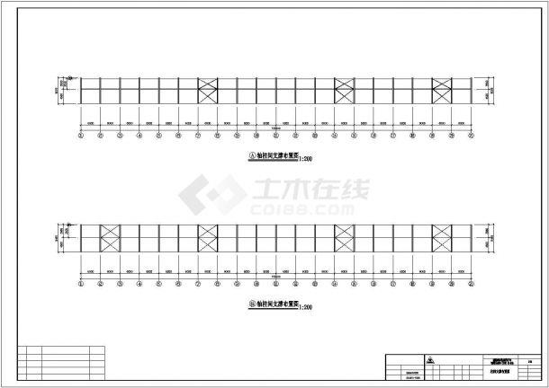 某产业园工程建筑设计施工CAD图纸-图二