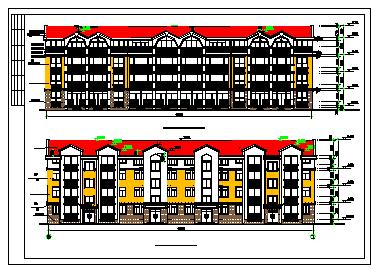 某地区多层别墅建筑方案cad设计图-图一