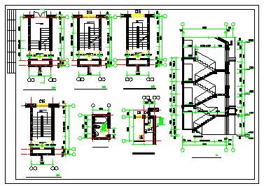 某地区多层别墅建筑方案cad设计图-图二