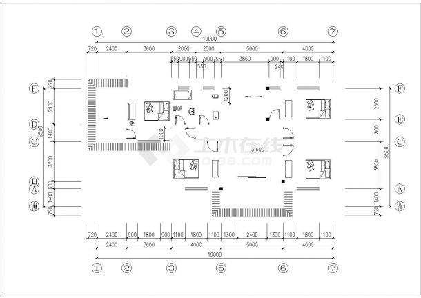 东部沿海某地区三层框架结构农村自建房(387.3㎡)设计cad全套建筑施工图(含设计说明,含结构设计)-图一