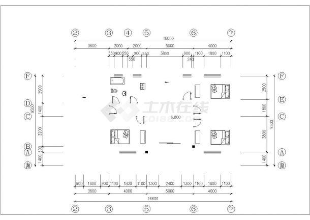 东部沿海某地区三层框架结构农村自建房(387.3㎡)设计cad全套建筑施工图(含设计说明,含结构设计)-图二