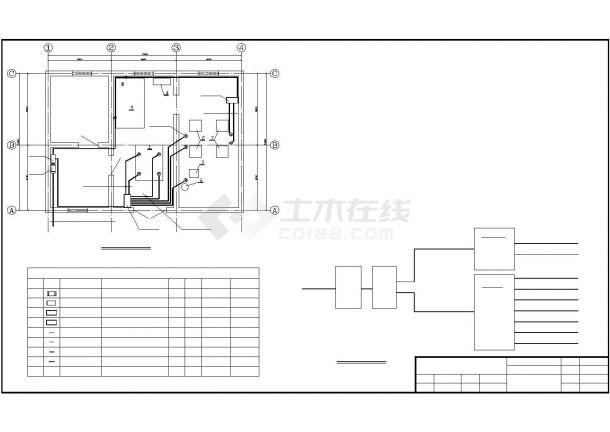 某地电锅炉配电系统设计cad图纸,共一份资料-图一