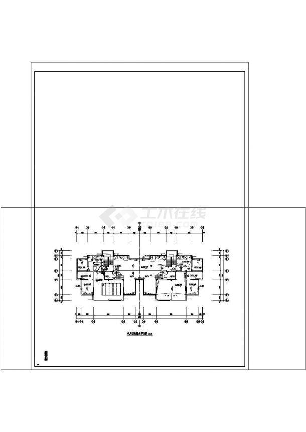[青海]住宅小区室内外给排水施工图cad图纸设计-图一