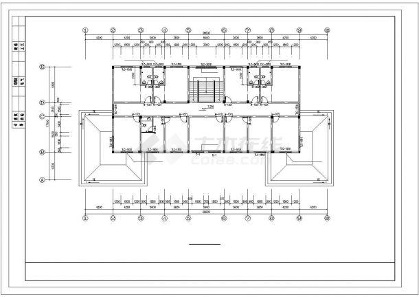 北京市某知名互联网公司3层砖混结构办公楼全套建筑设计CAD图纸-图一