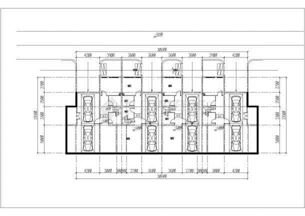 镇江市丹桂苑小区1300平3层砖混结构住宅楼建筑设计CAD图纸(2套方案)-图一