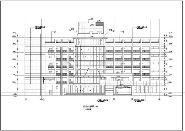 上海市徐汇区某居住区4400平米7层砖混结构住宅楼平面设计CAD图纸-图一