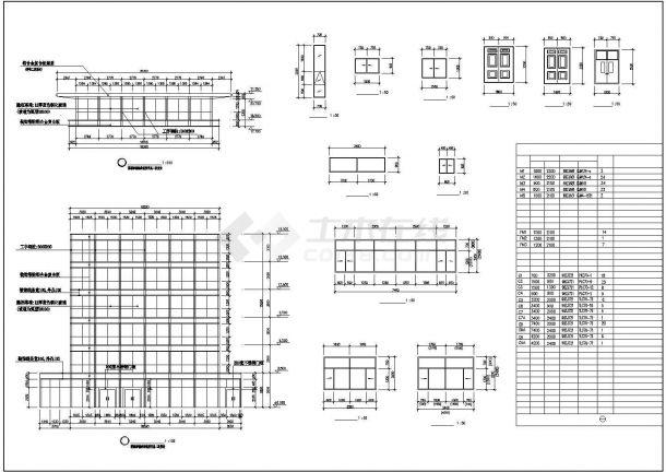 上海市徐汇区某居住区4400平米7层砖混结构住宅楼平面设计CAD图纸-图二
