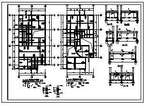 住宅设计_某5层砖混结构小型住宅结构施工cad图纸-图二