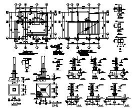 别墅设计_某二层带阁楼砌体混合结构小型坡屋顶别墅结构施工cad图纸-图一