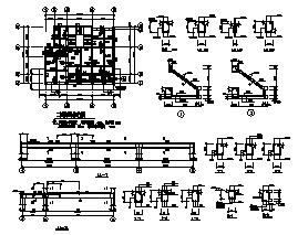 别墅设计_某二层带阁楼砌体混合结构小型坡屋顶别墅结构施工cad图纸-图二