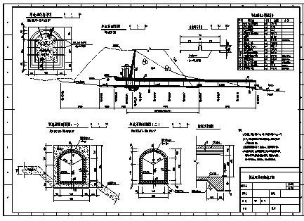 拦水坝设计_某城市拦水坝导流洞全套施工cad图纸-图一