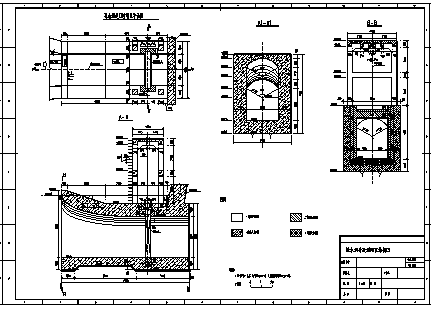 拦水坝设计_某城市拦水坝导流洞全套施工cad图纸-图二