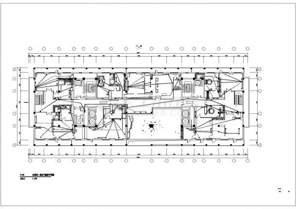 酒店总统套房电气照明布置方案CAD图纸-图一