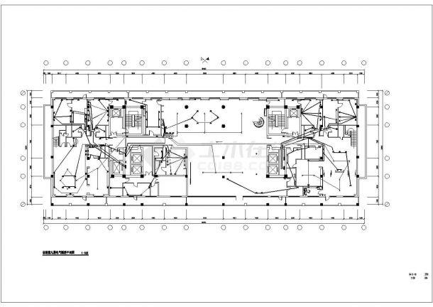 酒店总统套房电气照明布置方案CAD图纸-图二