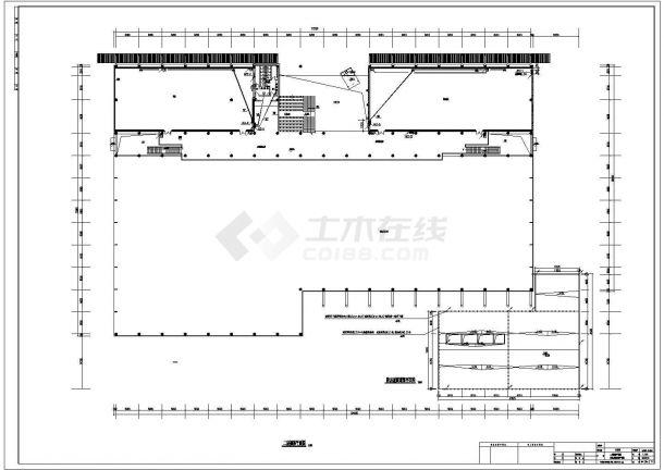 某大学体育中心电气照明施工设计方案CAD图纸-图一