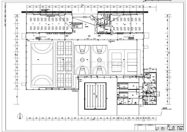 某大学体育中心电气照明施工设计方案CAD图纸-图二
