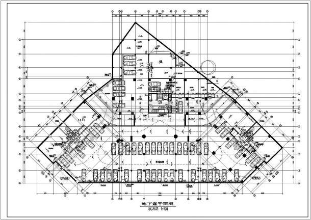 海丰广场建筑平面布置设计全套施工cad图-图一