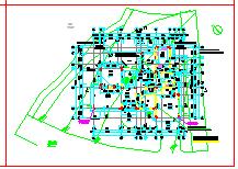 西湖某高尔夫别墅建筑设计cad图纸-图二