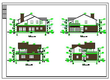 某地小别墅建筑设计cad全套图-图二