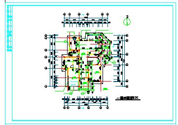 某地区小型别墅建筑设计施工cad图纸-图一