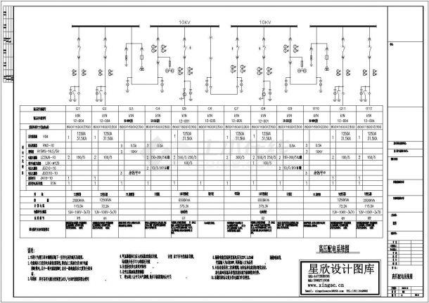 多元大酒店高压配电系统设计规划方案cad图纸,共一份资料-图一