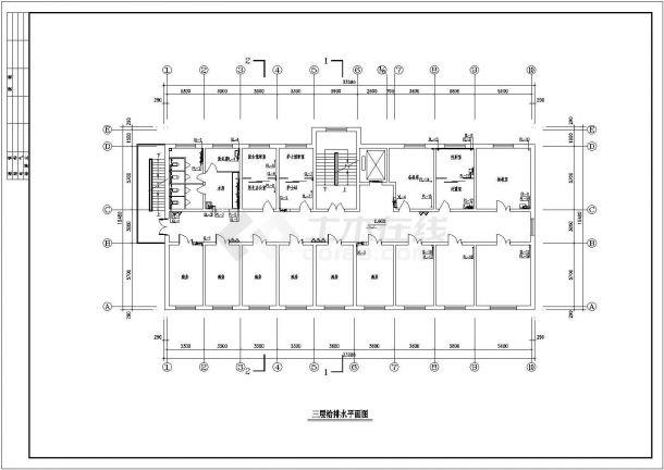 某地区4层医院综合楼给排水施工图-图二