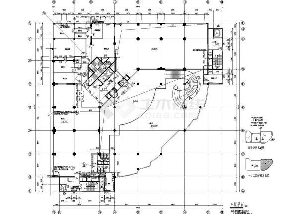 杭州市某临街1.4万平米16层框架结构星级酒店建筑设计CAD图纸-图二