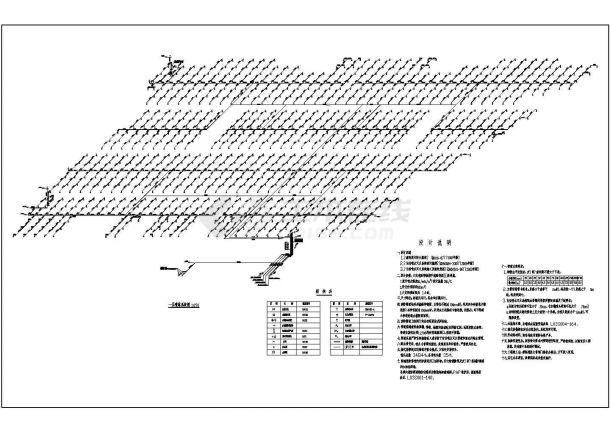 4万平方米商场自喷系统设计施工CAD图纸设计,含设计说明-图二