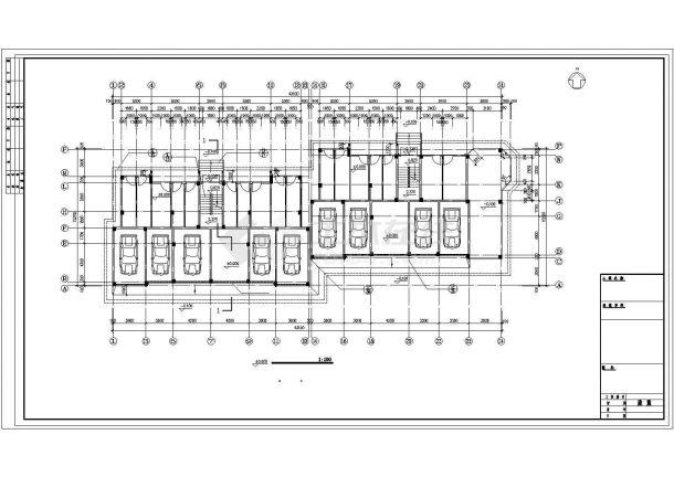 福州某小区4100平7层钢混框架结构住宅楼建筑设计CAD图纸(含架空层)-图一