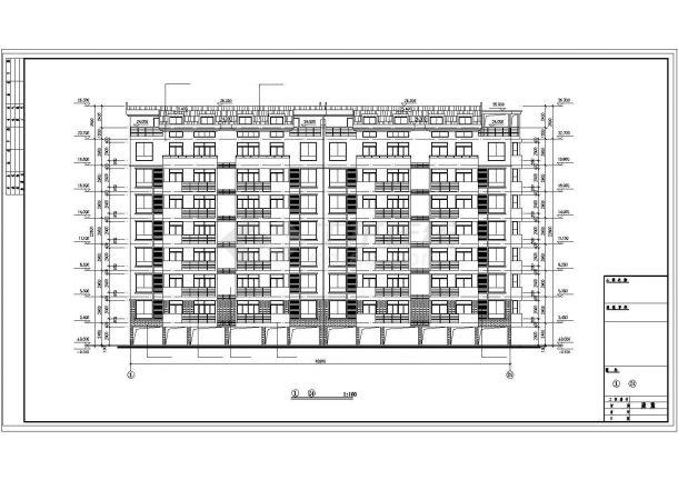 福州某小区4100平7层钢混框架结构住宅楼建筑设计CAD图纸(含架空层)-图二