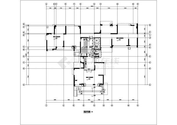 锦州市澄福花园小区9层框架结构住宅楼全套平面设计CAD图纸-图二