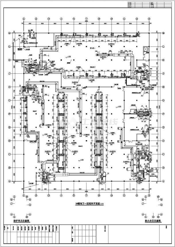 [山东]大型商场暖通设计施工图(散热器采暖 空调通风)-图二