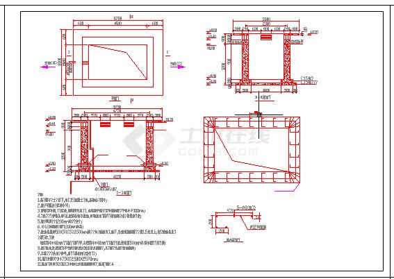 某公园灯具照明布线施工方案CAD图纸-图一