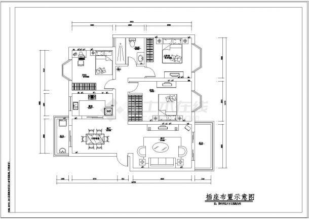 室内家居装修设计方案cad施工图大样图纸-图一
