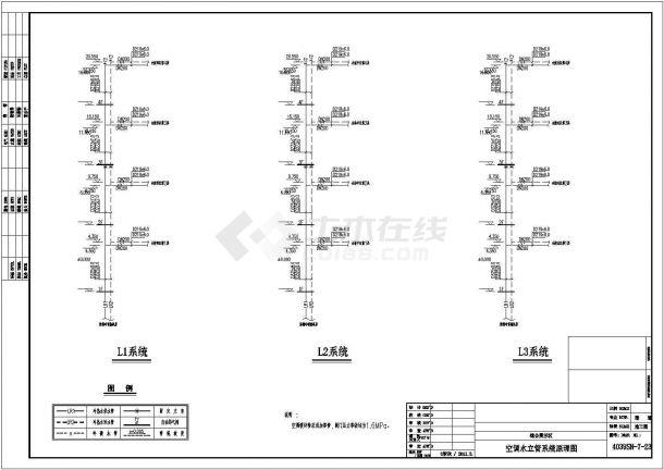 某商贸物流城空调通风全套设计cad全套施工图(含设计说明,含投标文件、负荷计算表)-图二