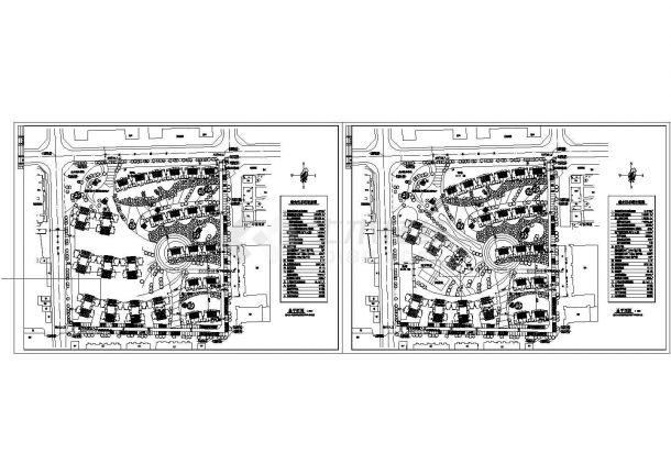 两个小区规划总平面图建筑全套cad图,含效果图-图一