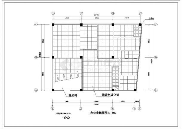 某现代潮流风格办公室室内精装修装饰设计cad全套施工图(甲级院设计)-图一